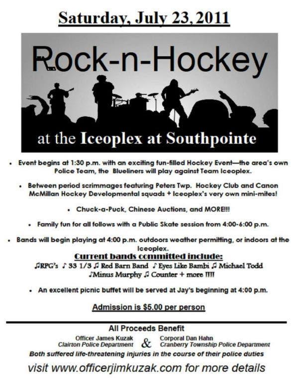 Rock-n-Hockey Fundraiser Helps Two Injured Officers