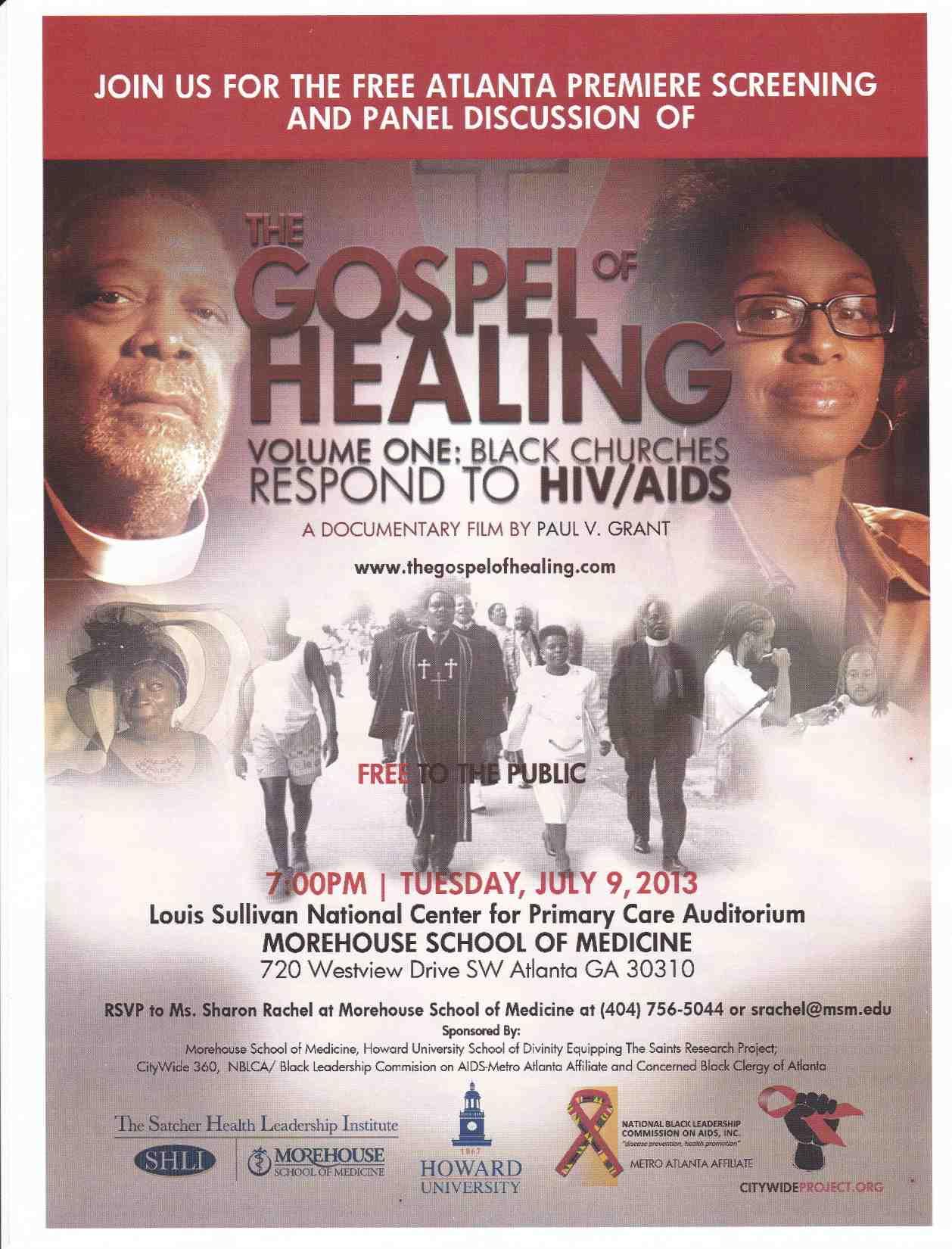 Free Screening at Morehouse School of Medicine: Gospel of