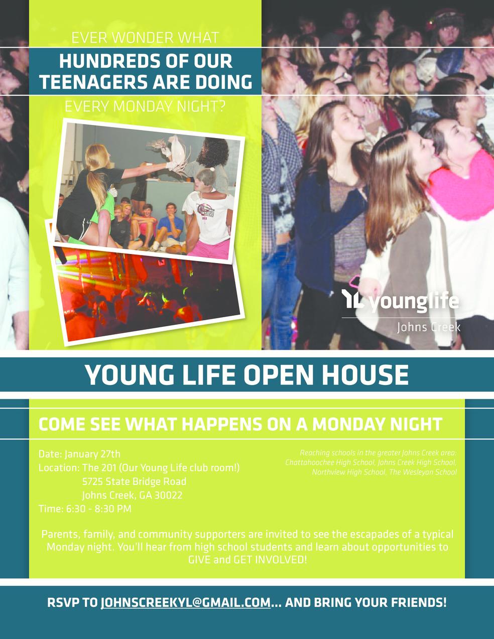 Young Life Open House | Johns Creek, GA Patch