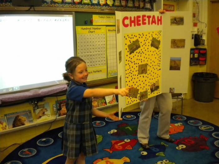 SMS First Graders Become The Teacher For Research Project | Orland