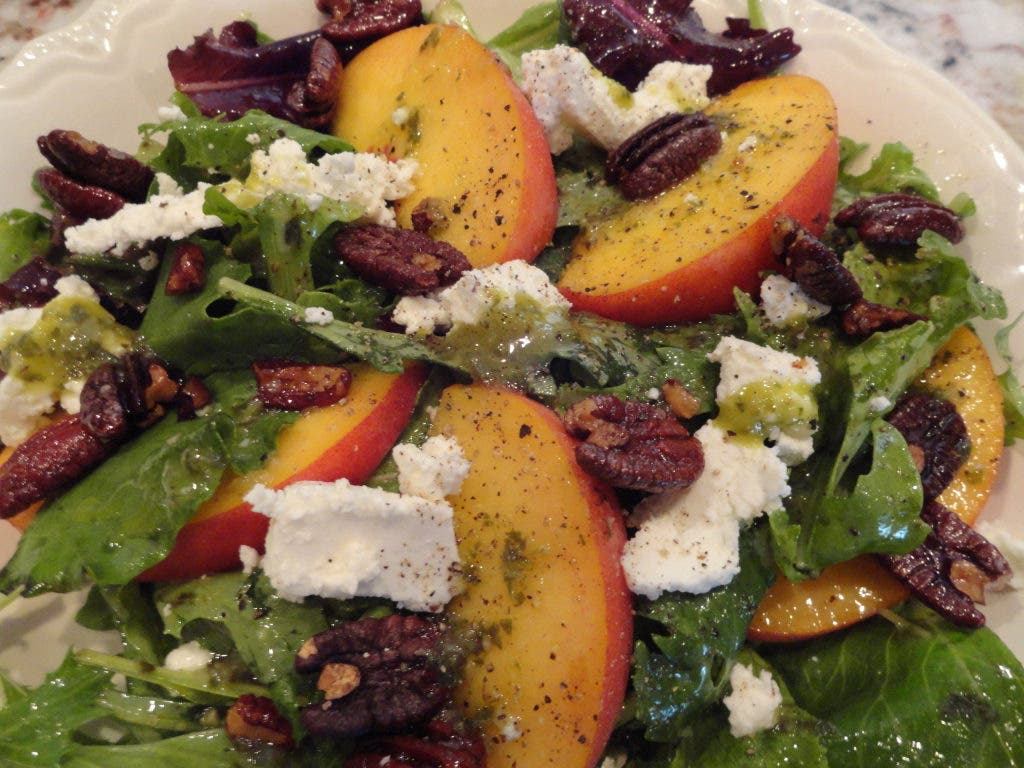 Georgia Peach Salad With Basil Vinaigrette | Duluth, GA Patch