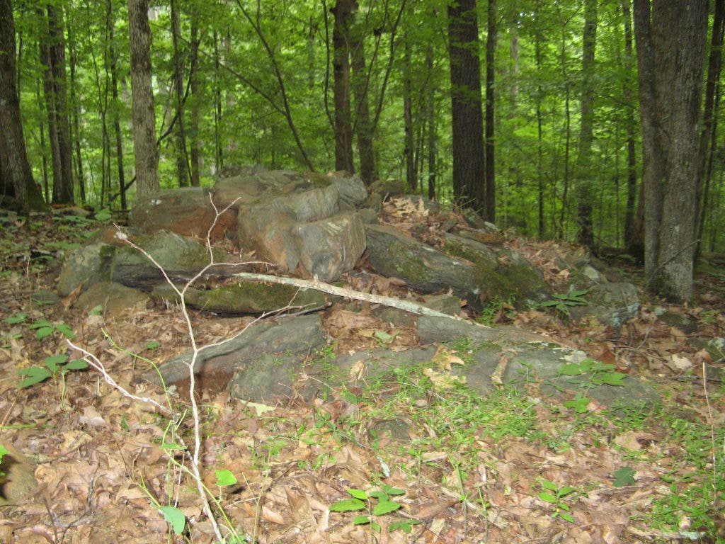 Stone Mounds at Little Mulberry Among Local Native American Sacred