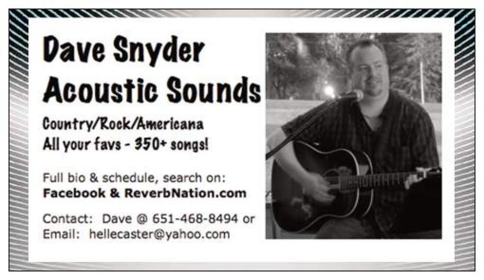 Dave Snyder Acoustic Sounds & steak @ Uncle Mike's! | Hudson