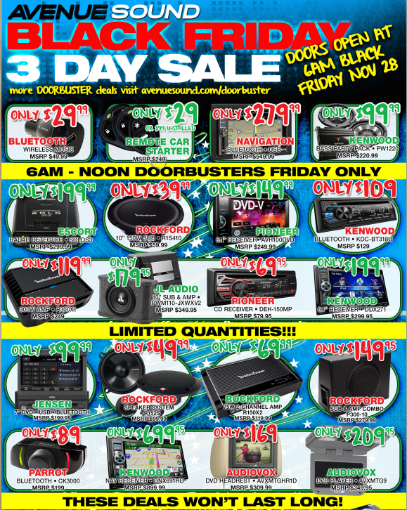 Avenue Sound 2014 Black Friday Specials Patchogue Ny Patch
