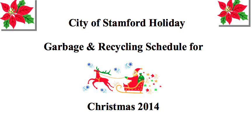 Stamford Garbage Pickup Christmas 2020 Stamford's Holiday Garbage, Recycling Schedule | Stamford, CT Patch