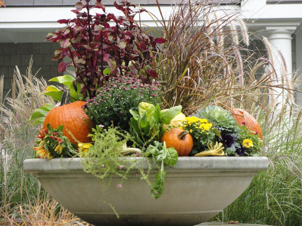 Fall Decorations And Autumn Planters For Front Porches Yards