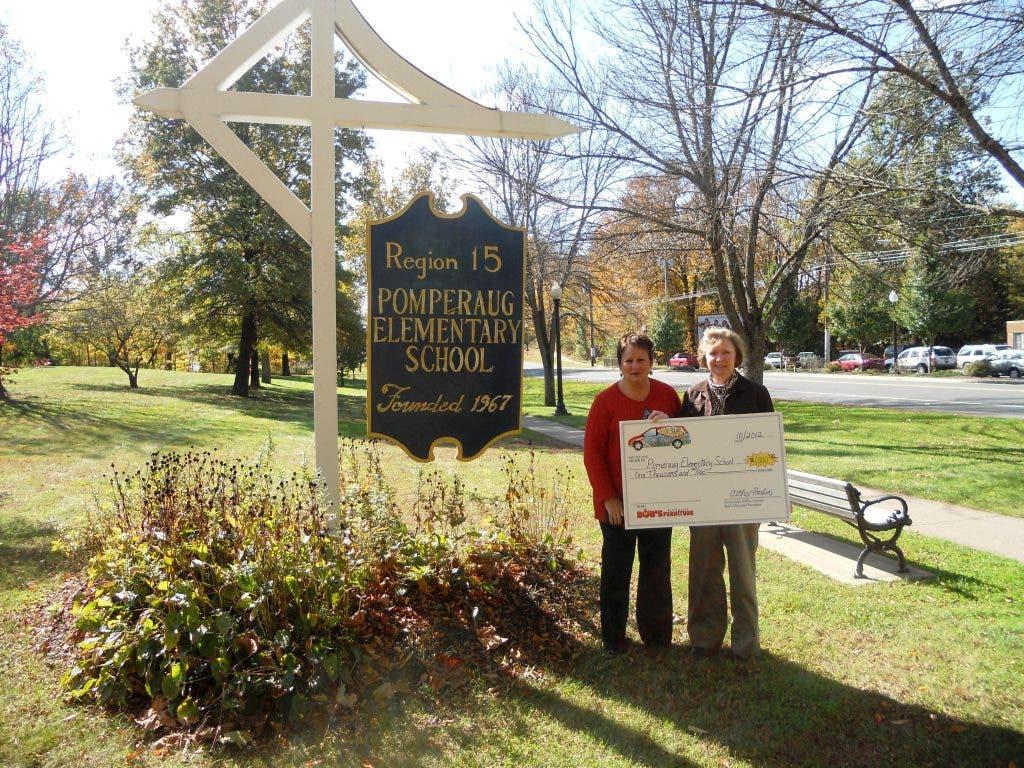Local Furniture Store Donates 1 000 To Pomperaug Elementary School