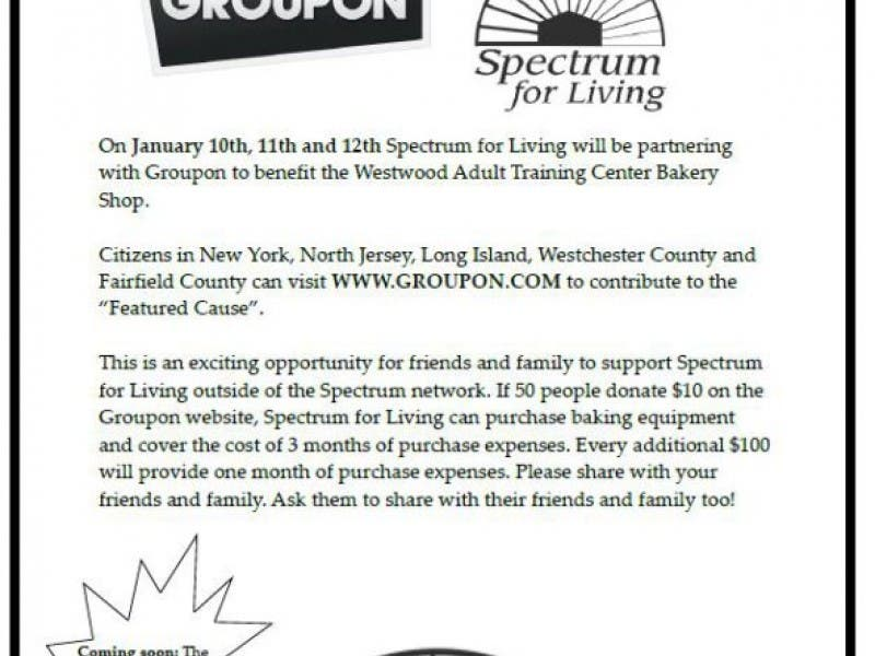 Spectrum For Living and Groupon Help Adults With Disabilities ...