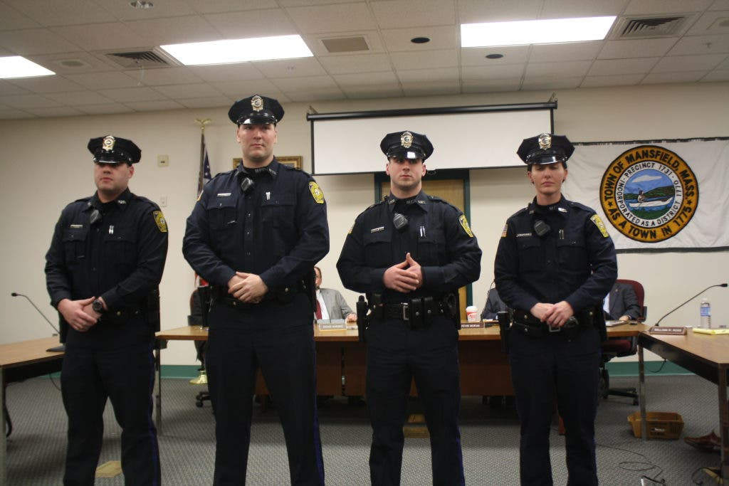 Meet Mansfield's Four Newest Police Officers | Mansfield, MA