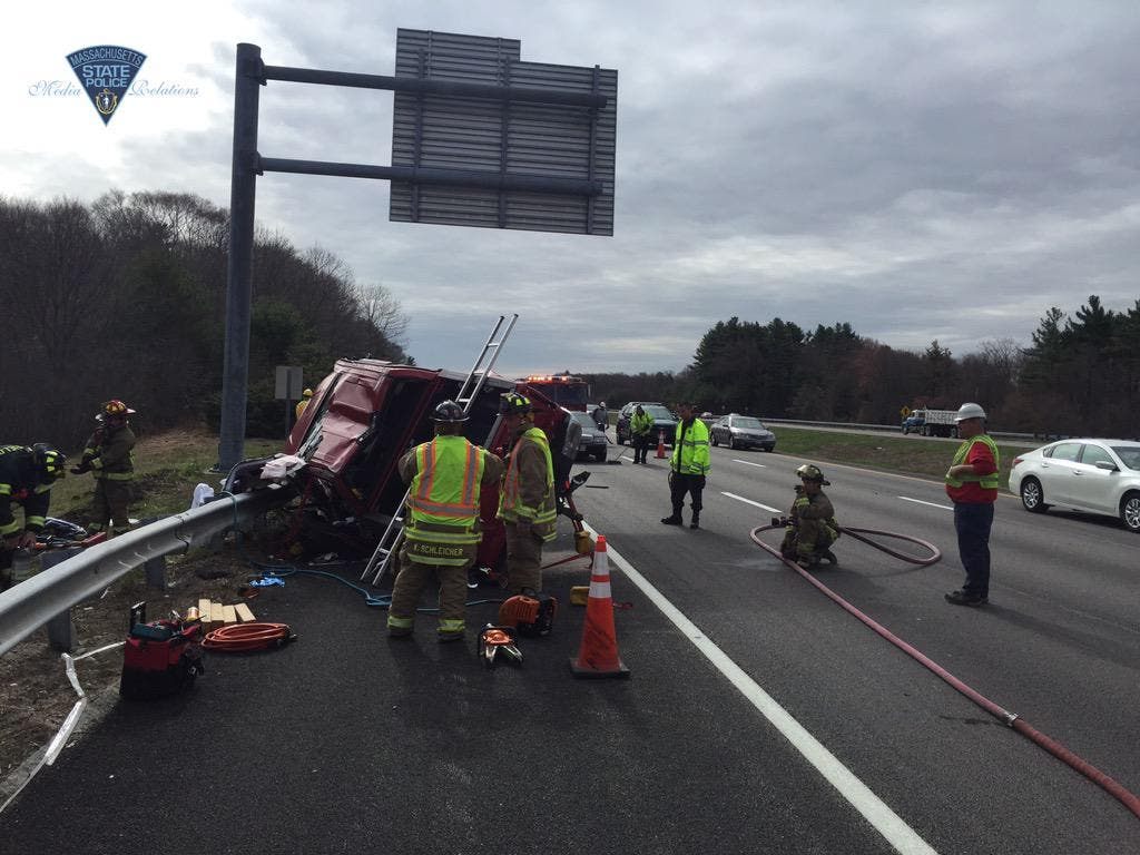 Traffic Backed up for Miles After Crash on Route 495 in Mansfield
