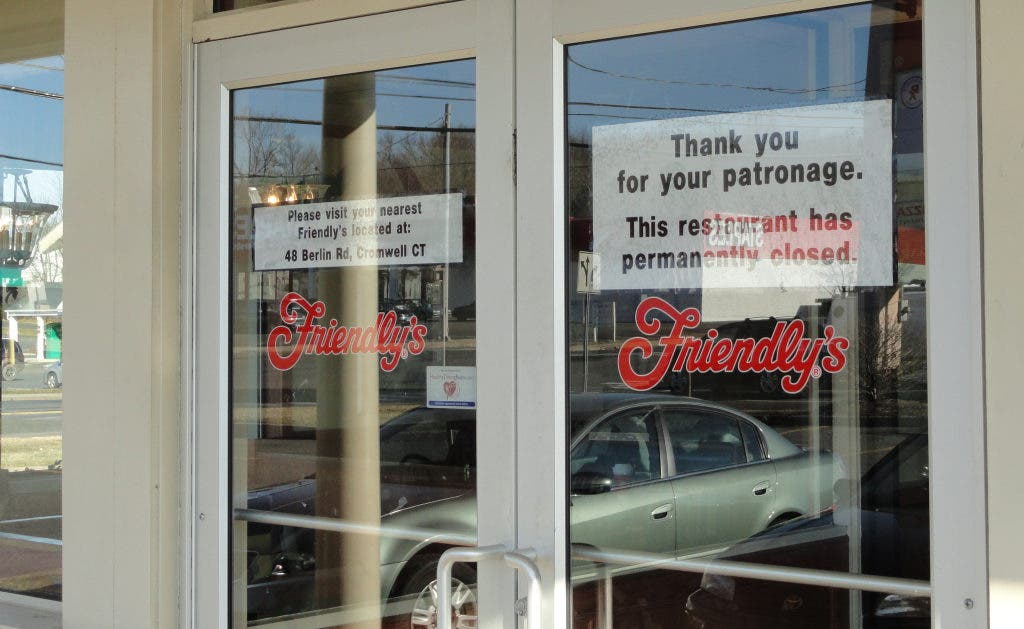 Wallingford Middletown Friendly S Restaurants Close