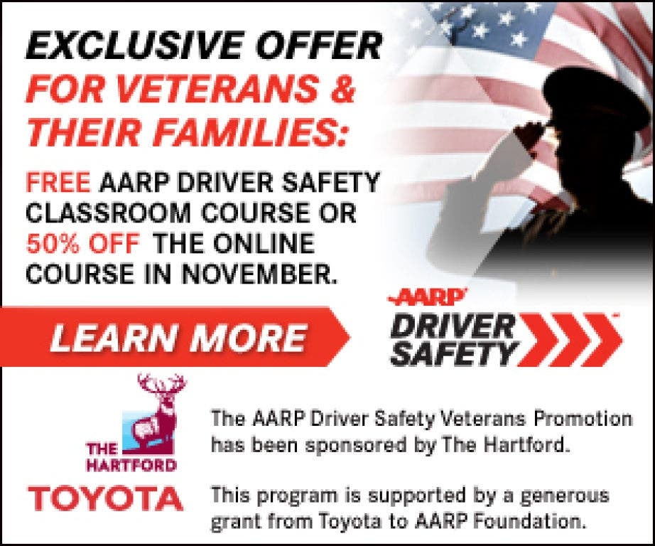 Aarp Hartford Login >> Aarp Salutes Veterans Free Safe Driving Course Offered