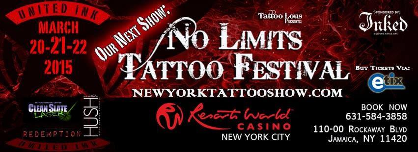 UNITED INK NO LIMITS TATTOO FESTIVAL 2015 AT RESORTS WORLD CASINO ...