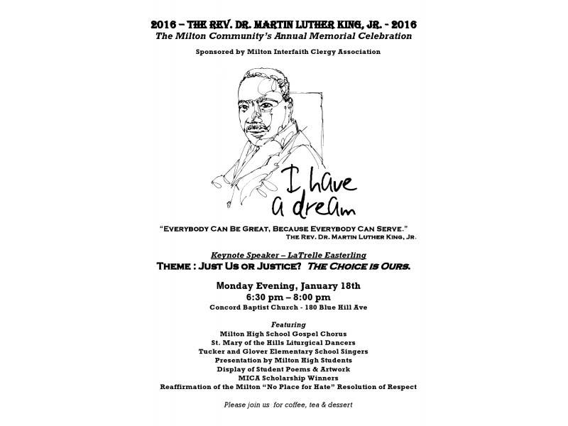 Milton Community S Memorial Celebration Of The Rev Dr Martin