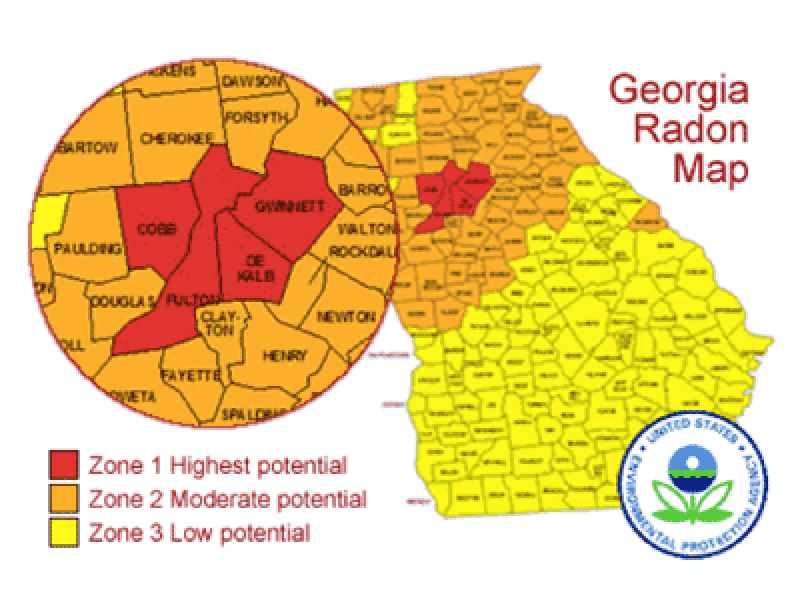 How Much Do You Know About the Radon Levels in Your Home ... Georgia Radon Map on georgia home, georgia pollution map, georgia climate map, murray county georgia map, georgia co map, state of georgia regional map, atlanta georgia map, georgia on map, atlanta zone map, georgia colors, iowa dot zone map, georgia country physical map, georgia soil map, georgia usa physical map, show counties in georgia map, georgia zone map, atlanta county zip code map, georgia us state map, georgia water map, georgia wetlands map,
