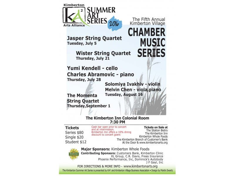The Wister String Quartet at the Kimberton Inn - Thursday, July 21st