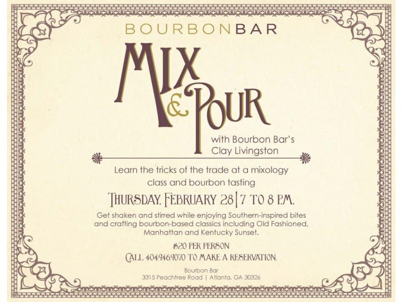 Mixology Class At Bourbon Bar Buckhead Ga Patch