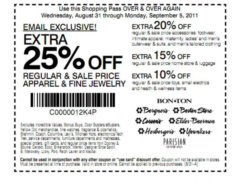 picture relating to Bergners Printable Coupons named Best 5 Walmart Specials, Help save 80% at , Designer