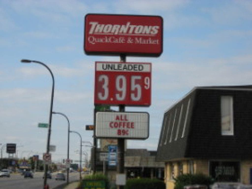 Thorntons Gas Prices >> Cheapest Gas Price In Oak Lawn 3 95 Oak Lawn Il Patch