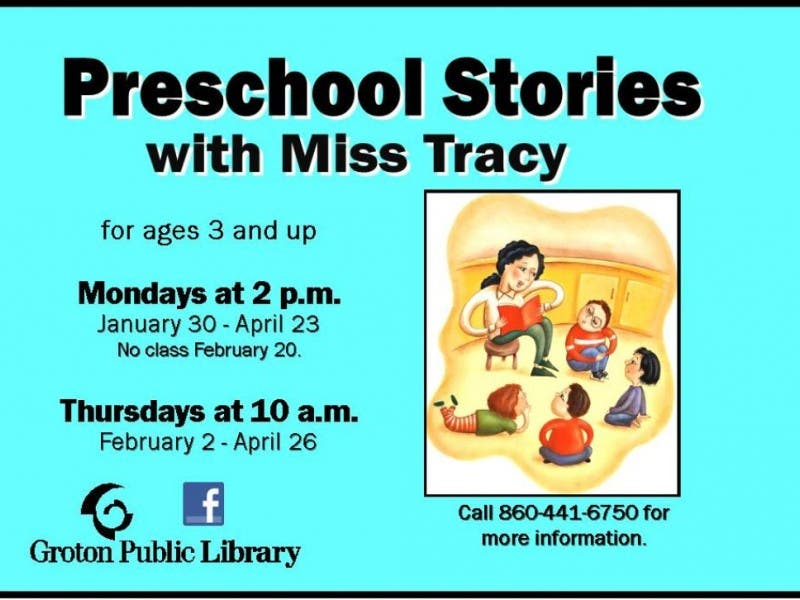 Preschool Stories With Miss Tracy Groton Ct Patch
