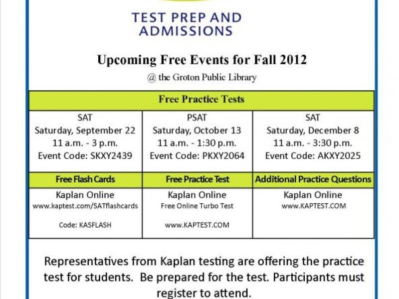 Free Kaplan SAT Practice Test | Groton, CT Patch