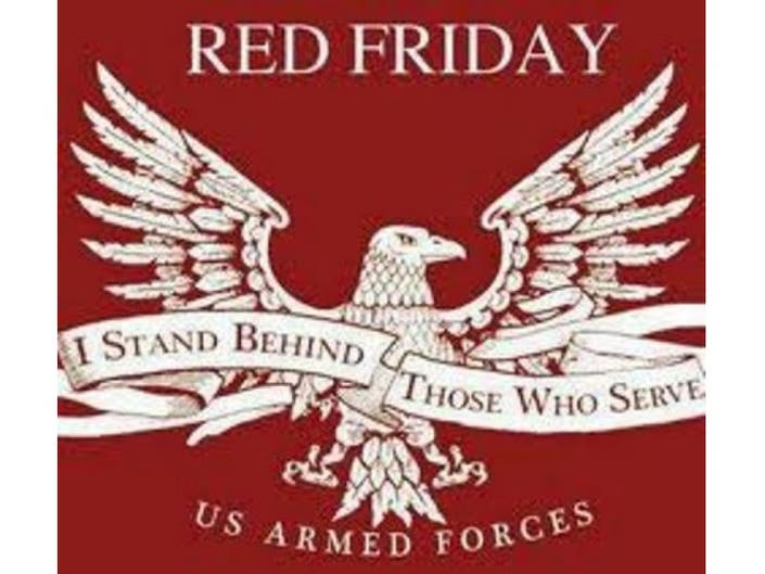 2d7ccac93 Wear Red On Fridays To Support Our Troops Hatboro Pa Patch