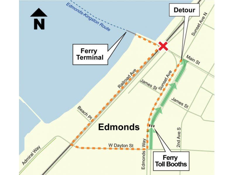 Ferry Traffic Will Divert To Dayton Street And Railroad Avenue Next