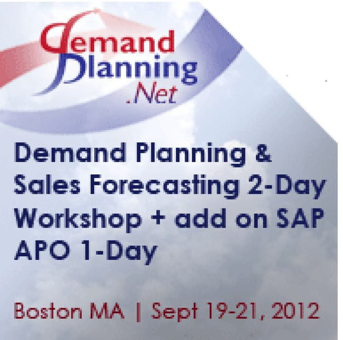 Demand Planning and Sales Forecasting Workshop | Norwood, MA