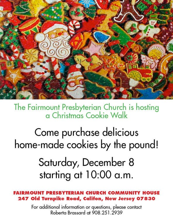 Christmas Cookie Sale Long Valley Nj Patch