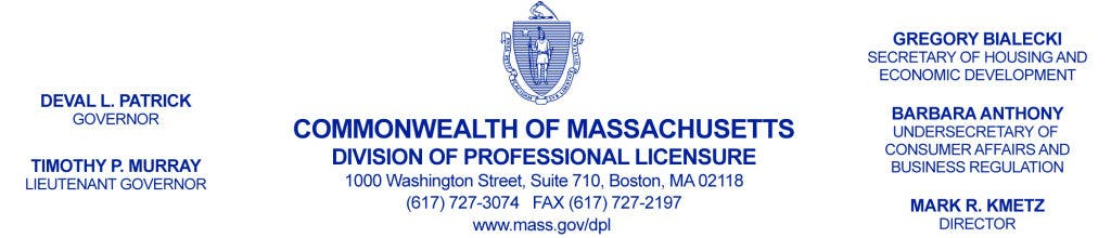 Ma Division Of Professional Licensure >> State Electrical Board Announces Enforcement Action Against Medfield