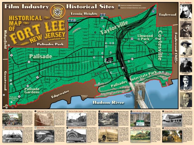 Fort Lee New Jersey Map.Historic Map Of Fort Lee Recognized With County Award Fort Lee Nj