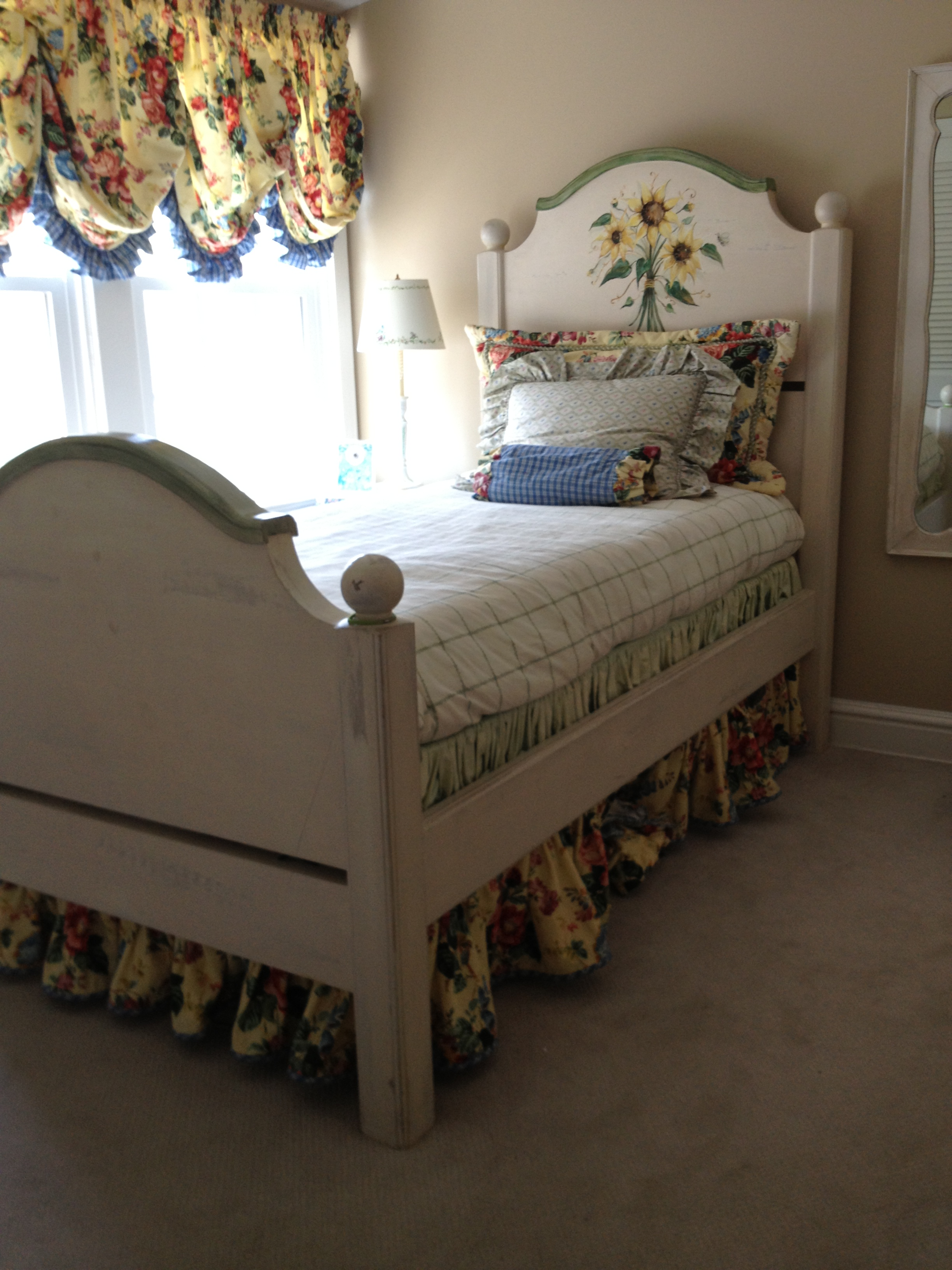 Shabby Chic Farmhouse Bed With Sunflower Kirkwood Mo Patch