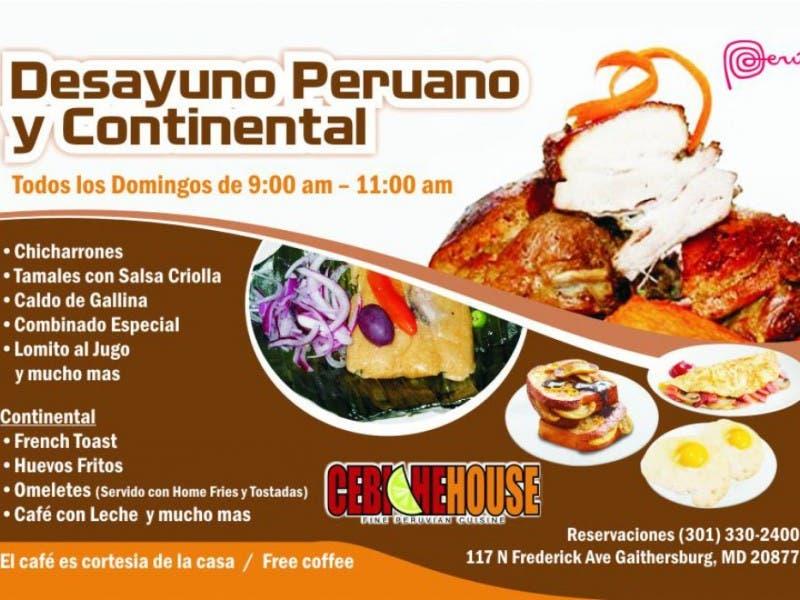 Desayunos Peruanos Y Continental Todos Los Domingos Peruvian And