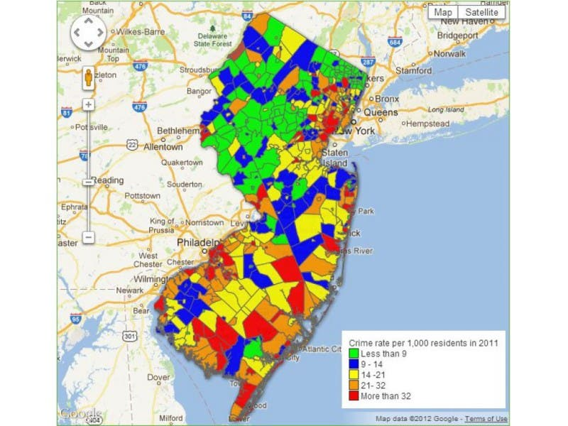 How Does Crime In Wall Compare To Neighboring Towns Wall Nj Patch
