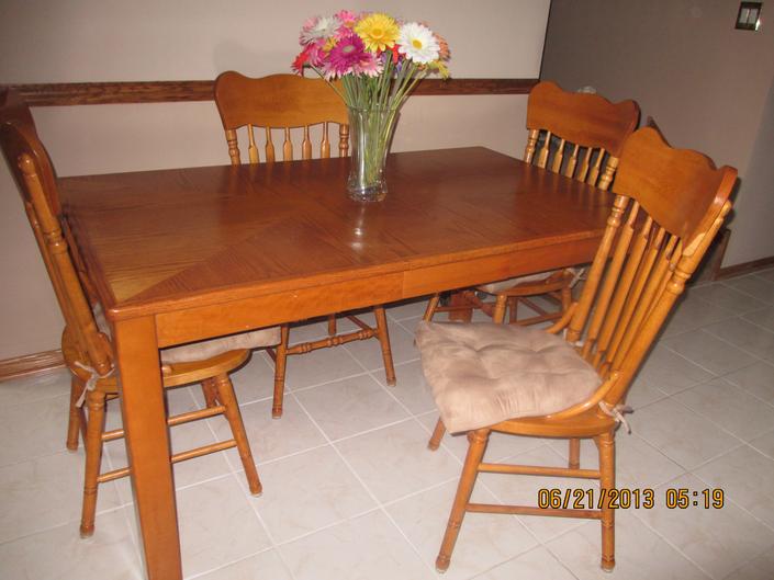 oak kitchen table set for sale  downers grove il patch