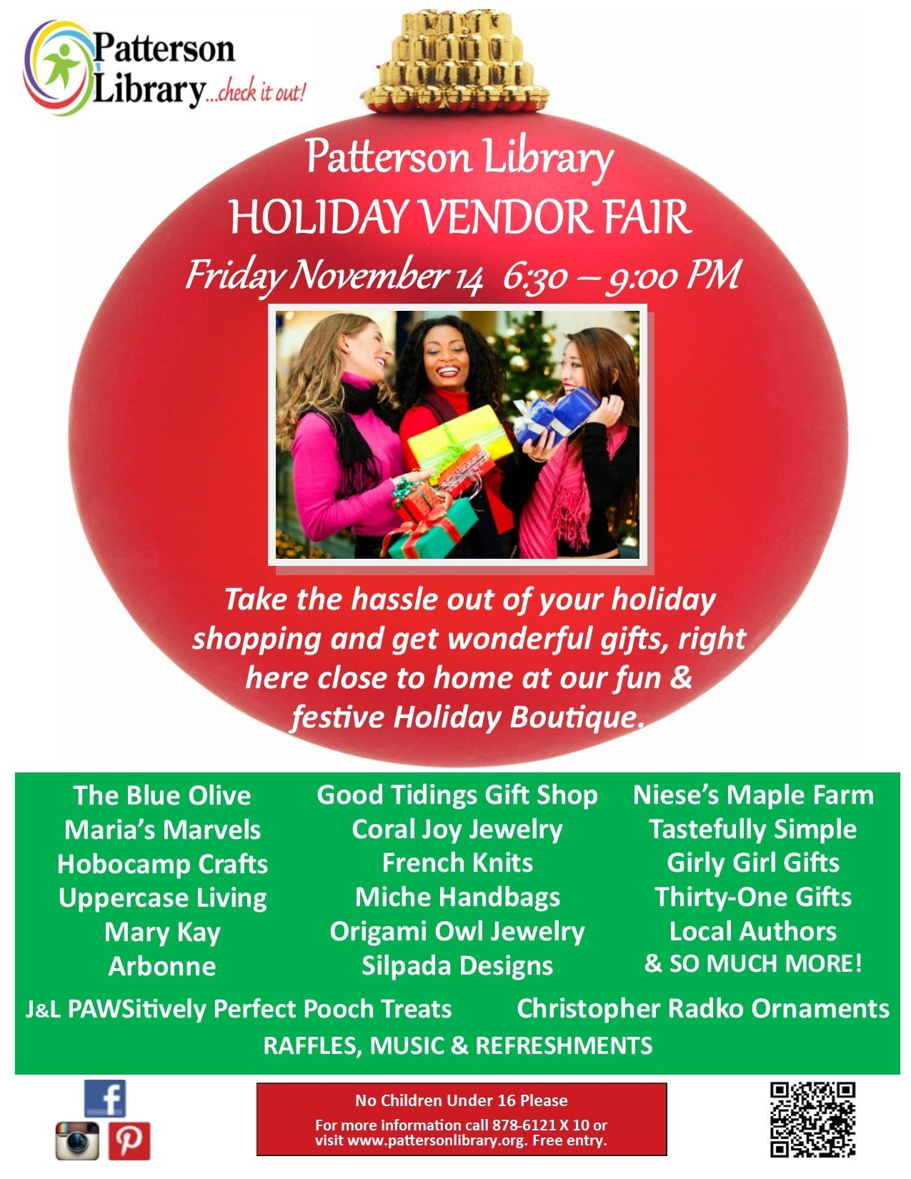 Patterson Library Holiday Vendor Fair   Southeast, NY Patch