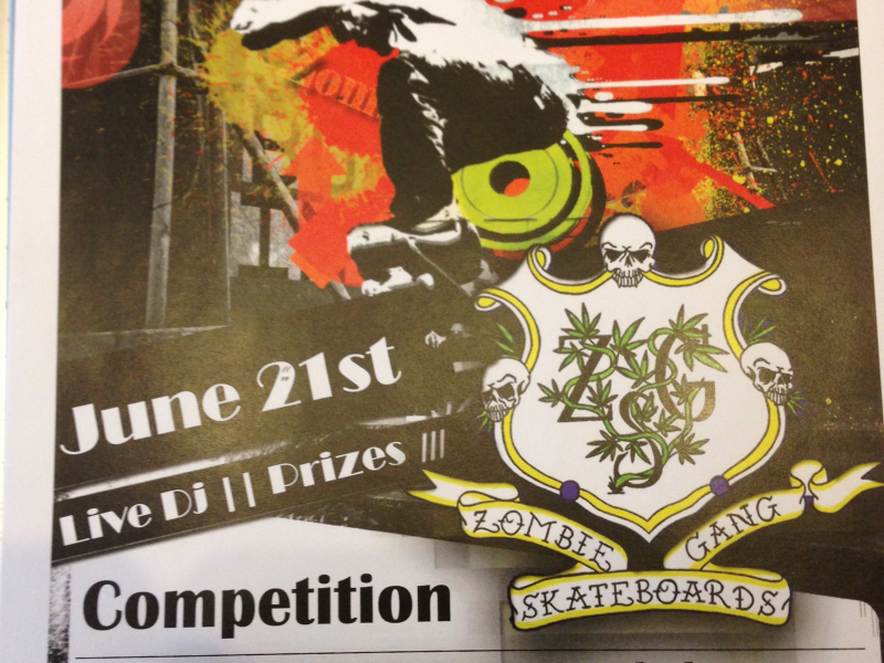 Zombie Gang skateboards and The Hive Skate Shops annual