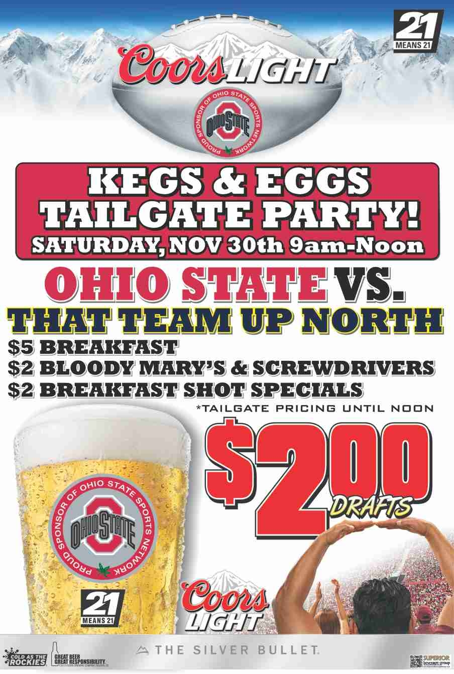 Ohio State Kegs And Eggs Michigan Tailgate Party!!!   Solon, OH Patch