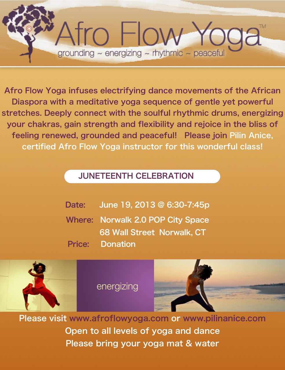 JUNETEENTH AFRO FLOW YOGA CLASS | Norwalk, CT Patch