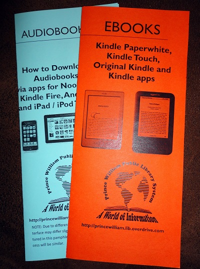 eBooks, Books on Tape, Audiobooks, CD's all at the Public