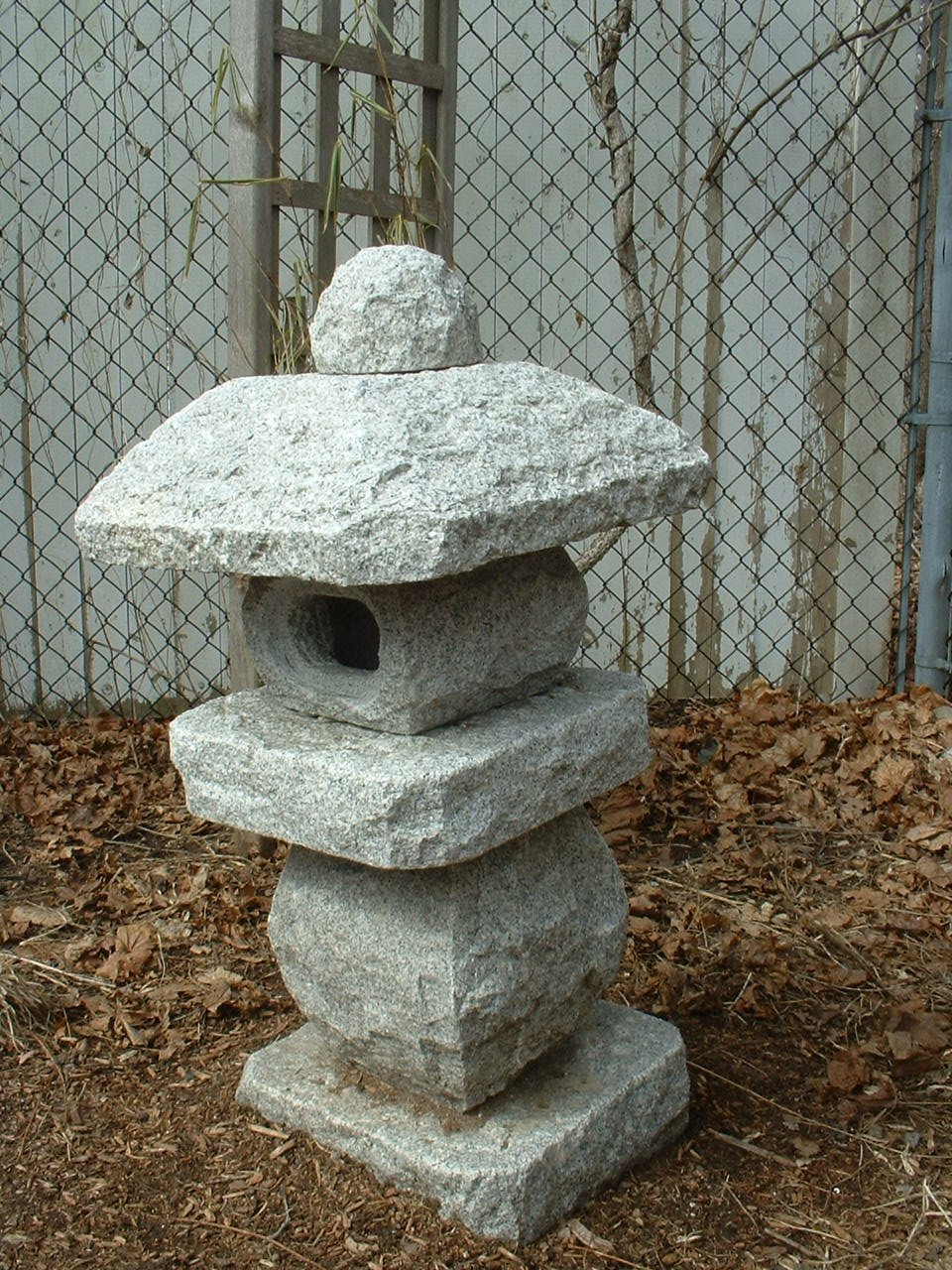 Japanese garden stone lantern | Reading, MA Patch