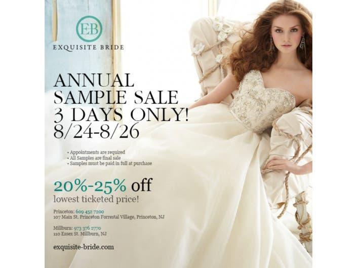 639b78ae0d8d Exquisite Bride Hosts Annual Summer Sample Sale | Princeton, NJ Patch