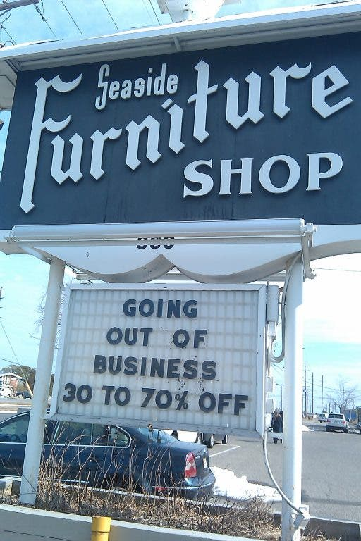 Seaside Furniture Closing Is A Sign Of The Times