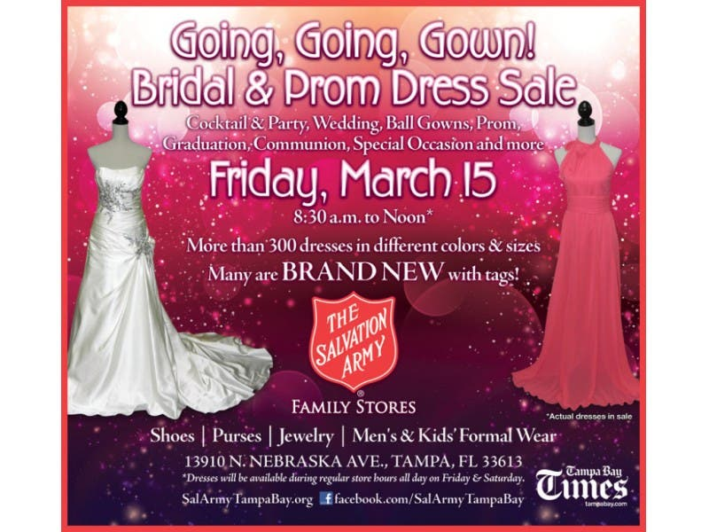Salvation Army Bridal Prom Dress Sale Carrollwood Fl Patch
