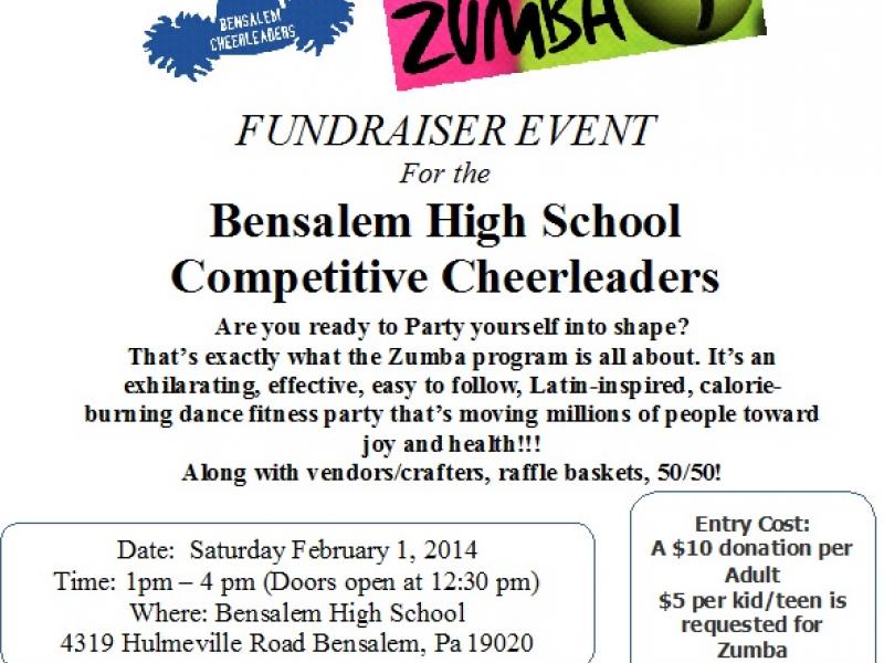 Bensalem Cheerleading Zumba Fundraiser Event Bensalem