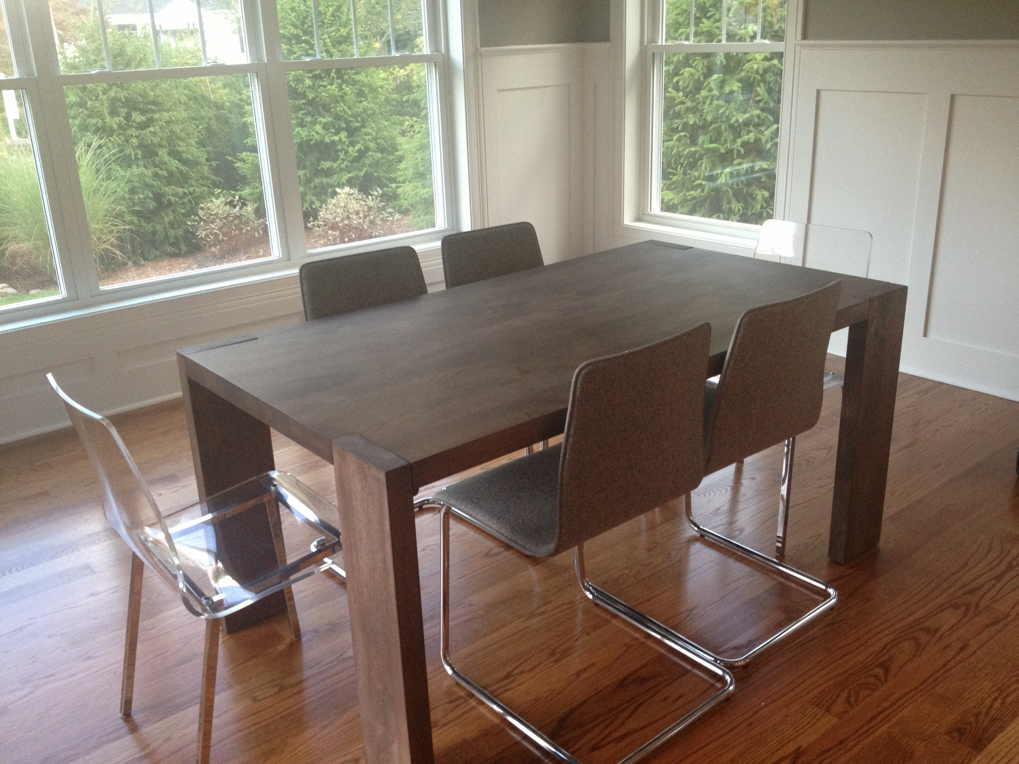 Cb2 Wood Dining Room Table And Chairs Fairfield Ct Patch