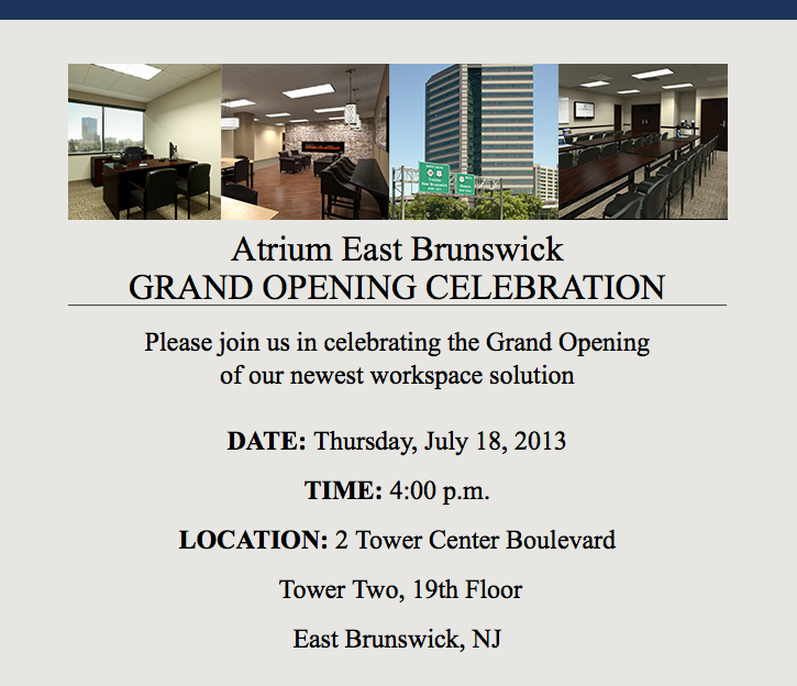Atrium East Brunswick Opens Doors For Business East Brunswick Nj Patch