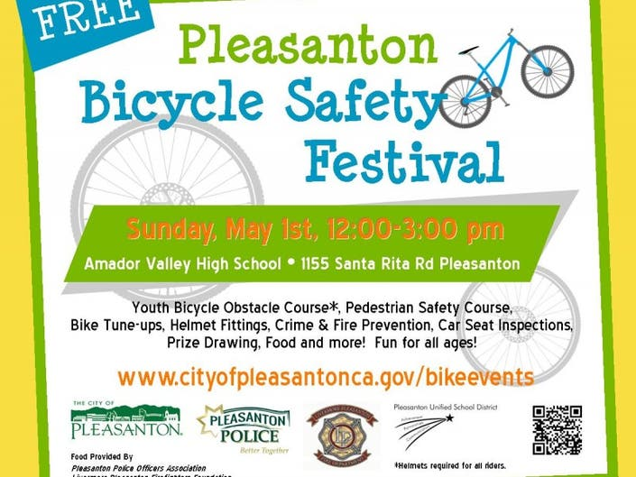 Pleasanton Bicycle Safety Festival Planned Sunday