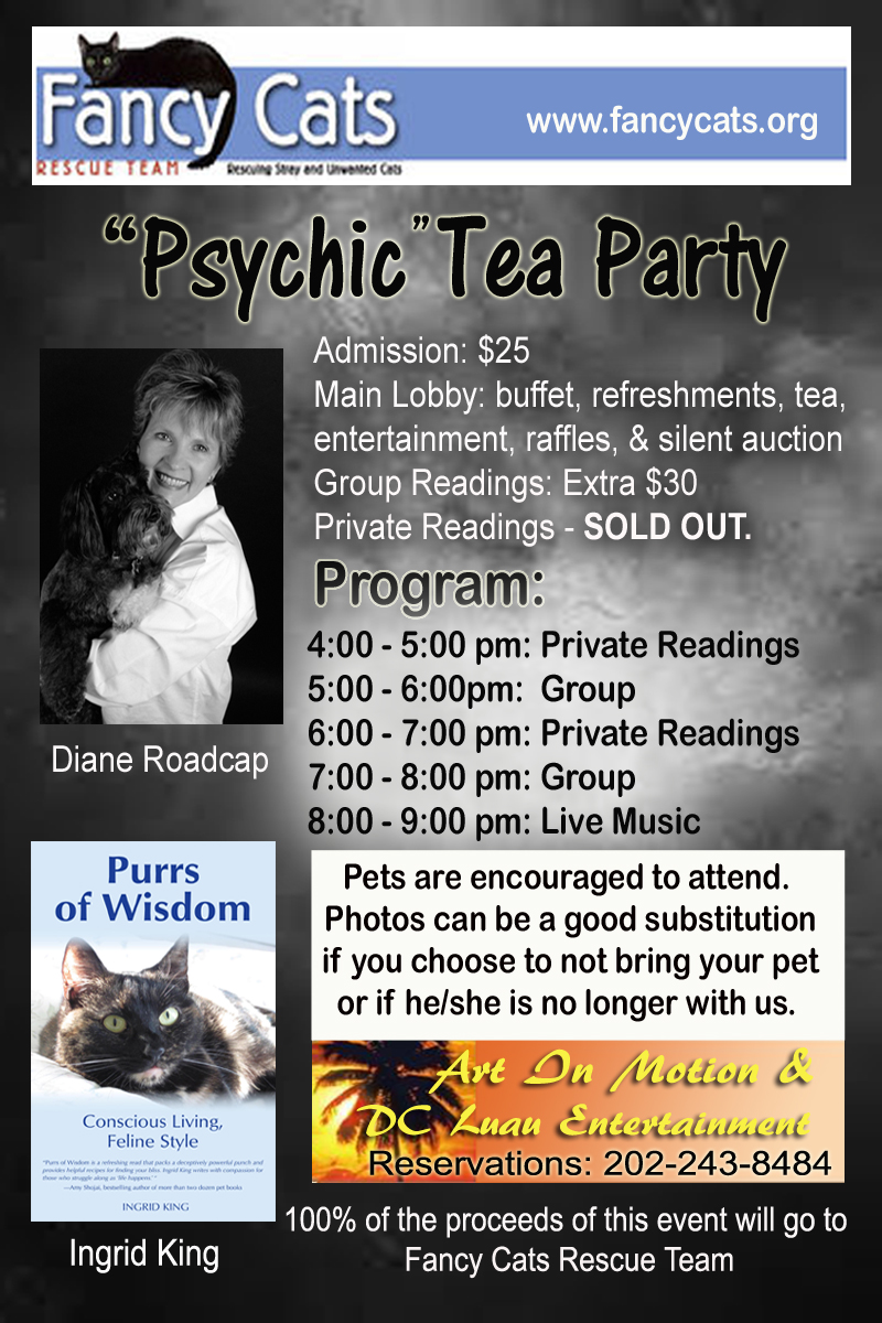 Fancy Cats Fundraising event Psychic Tea Party | Marlboro