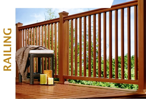 Composite deck railing kits with copper top post kits | Montgomery